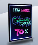 Outdoor Advertising LED Writing Sign Board 60*80cm