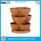 Terracotta Stacked Outdoor Garden Plant Pot