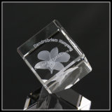 3D Photo Crystal Cube Lily Souvenir Gifts