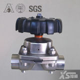 Sanitary Stainless Steel AISI316L Diaphragm Shut off Valve, Welded Connection DIN 11850