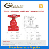 Groove End Resilient Seated Awwac509 Gate Valve