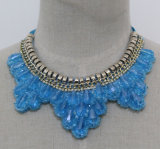 Women Fashion Jewelry Beaded Crystal Costume Collar Necklace (JE0154)