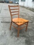 Wood Finish Metal Restaurant Chair with Wood Seat (FOH-C001)