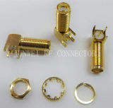 SMA Female Right Angle RF Coaxial Connector for PCB Board (SMA-KWE19)