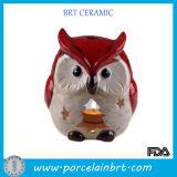 Hallowen Owl Ceramic Candle Holder
