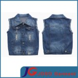 Kids Boys Ragged & Scratched Denim Vest