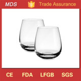 Custom High Quality Wide Mouth Fancy Whisky Glass Round Bottom