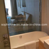 Tempered Insulated Glass with Aluminium Shutter Inside for Toilet Partition