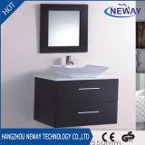 Small Size Solid Wood Hotel Ceramic Basin Bathroom Vanity Cabinet