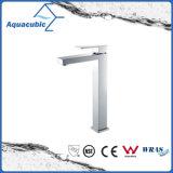 High Body Square Base Single Handle Bathroom Basin Tap (AF6028-6H)