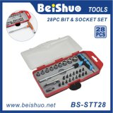 28PC Combination Screwdriver Bit Set with T-Type Wrench