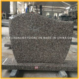 G664 of Pink/Brown Granite Tombstone of Red Cheap Monuments