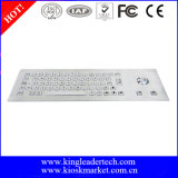 Panel Mount Vandal Proof Stainless Steel Keyboard with Trackball
