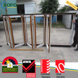 Wood Like Rehau/Veka PVC Profile Bifold/Folding Sliding Window