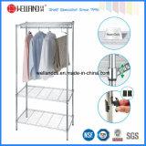 Modern Design Chrome Metal Wardrobe Closet with K/D Packing