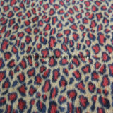 Leopard Print Polar Fleece with 2 Sides Brush and 1 Side Antipilling