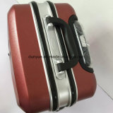 Aluminum Frame Fashion Red Trolley Bag, Custom Make PC Material Travel Luggage Case with Wheels