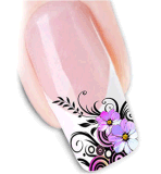 Flower Design Decal Waterproof Nail Art Stickers Nail Stickers