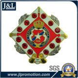 Die Struck Semi-Cloisonne Customer Lapel Pin with Stones