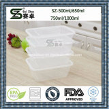 Clear Single Compartment Disposable Plastic Food Container Lunch Box (SZ-L-650ML)