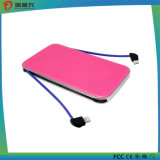 5000mAh Ultrathin Power Bank with Built-in USB Cable