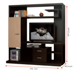 Modern MFC Laminated Wooden Cabinet TV Stands (HX-DR102)