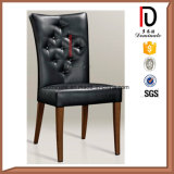 Metal Frame Black Leather Dining Banquet Chairs for Hotel