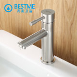 Bathroom 304 Stainless Steel Wash Basin Mixer Nickle Brushed Tap Deck Mounted (BMS-B1001)