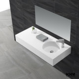 Solid Surface Vanity Wall Hung Wash Basin for Bathroom
