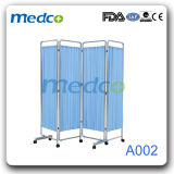 Movable Medical Stainless Steel Furniture, Hospital Bed Folding Ward Screen