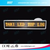 P6 Yellow Color Programmable Taxi Top LED Advertising Sign