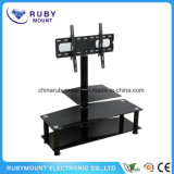 Ce Simple Tempered Glass and Chrome Leg TV Stand