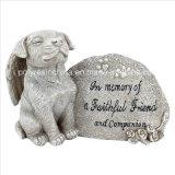 Polyresin Memorial Dog Statue for Garden Decor