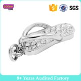 Crystal Metal Alloy Wholesale Flip Flop Charms