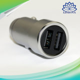Xiaomi Mi Car Charger Mi 2-in-1 Double Dual USB Port Adaptor Metal Style Silver Mobile Phone Fast Charging