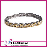 Wholesales Flower Shaped Negative Ion Stainless Steel Bracelet (CP-JS-BL-185)