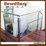 Indoor Stainless Steel and Wood Glass Handrail (SJ-H1157)