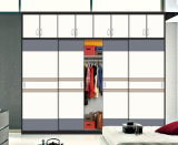 Glossy Sliding Door Wardrobe with Rails (factory directly)