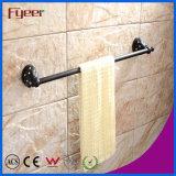 Fyeer Black Series Bathroom Accessory Brass Towel Bar
