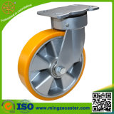 Industrial Yellow PU on Aluminum Core Wheels Caster