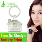 Custom Zinc Alloy/Leather/PVC Keyring with Metal Ring