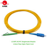 LC/APC to SC/PC Simplex Singlemode 2.0mm Fiber Optic Patch Cable