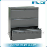 3 Drawers Knocked Down Type Metal Office Lateral File Cabinets