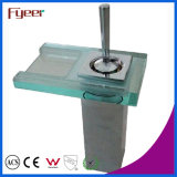 Fyeer Single Lever Handle Glass Spout Waterfall Basin Mixer Tap