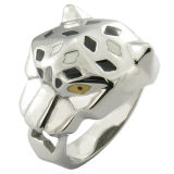 Irregular Super Man High Polished Tiger Ring