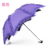 Adversting OEM Cheap Huntgold Mini Lace Lady Folding Style Creativity Umbrella