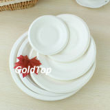 Plain White Round Paper Plate Party Supplies