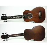 Aiersi Brown Color All Solid Body Electrical Acoustic U-Bass Ukulele