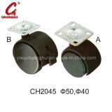 Black PU Caster Wheel with Aside Brake (CH2045)