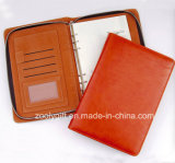 Fashionable Executive Zipper A5 PU Leather Portfolio Planner / 6 Ring Binder Agenda Notebook